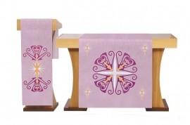 Conjunto de Véus Altar e Estante Advento Róseo S227 S228