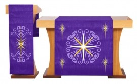 Conjunto de Véus Altar e Estante Advento Roxo S227 S228