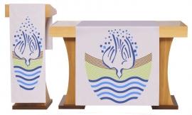 Conjunto Véu de Altar e Estante Batismo S225 S226