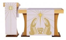Conjunto Véu de Altar e Estante Natal S229 S230