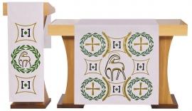 Conjunto Véu de Altar e Estante Pascal S198 S199