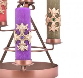 Coroa do Advento Ferro Bronze 45 x 35cm