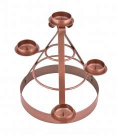 Coroa do Advento Ferro Bronze 45 x 35cm