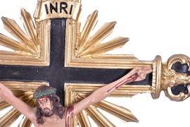 Crucifixo de Mesa Ornado Resina 59cm