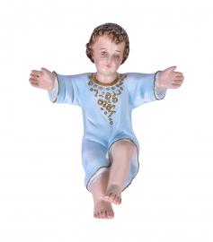 Imagem Menino Jesus Tradicional Manto Azul Gesso 15 cm