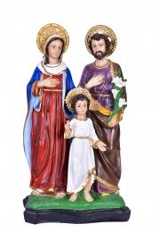 Imagem Sagrada Família Resina com Auréola 55 cm