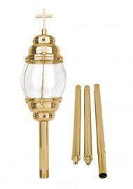 Lanterna Procissão com Haste Dourada 95