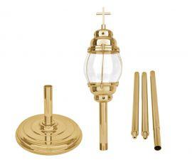 Lanterna Procissão com Haste e Base Dourada 95