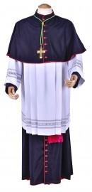 Mozeta Episcopal Lã Fria Italiana Preta MZ602