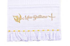 Toalha Algodão Meu Batismo Espírito Santo TH002