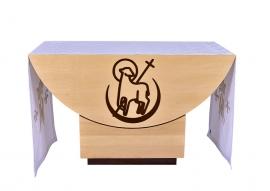 Toalha Altar 074 Bordado Lateral Mariano TO206 até 4m