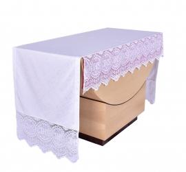 Toalha Altar 075 Frontal Renda Litúrgica JHS 30cm até 4m com forro removível