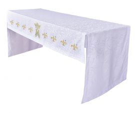 Toalha Altar Bordada 075 Mariana TO200 Bordado 218cm
