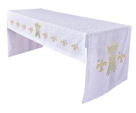 Toalha Altar Bordada 075 Mariana TO220 Bordado 218cm