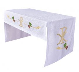 Toalha Altar Bordada 075 PX TO222 Bordado 172cm