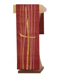 Véu de Estante Pentecostes Vermelho S202