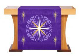 Véu de Altar para Celebração do Advento Roxo S228