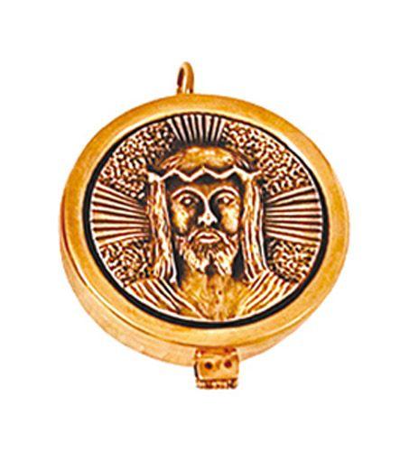 Teca Face de Cristo Dourado 7607