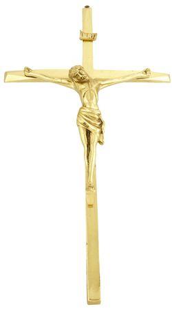 Crucifixo de Parede Metal com Banho Dourado 2040C 50cm