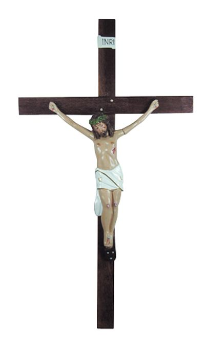 Crucifixo de Parede Gesso 126cm 699
