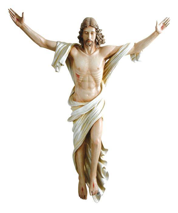 Imagem Cristo Ressuscitado Fibra 100cm