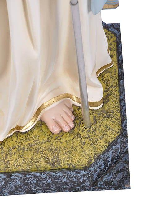 Imagem Par de Anjos com Candelabro Gesso 120cm
