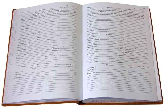 Livro de Registro Casamento Religioso com Efeito Civil
