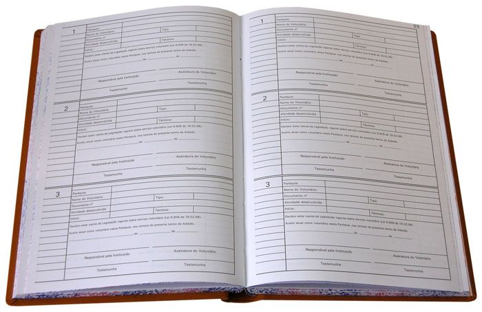 Livro de Registro Voluntários