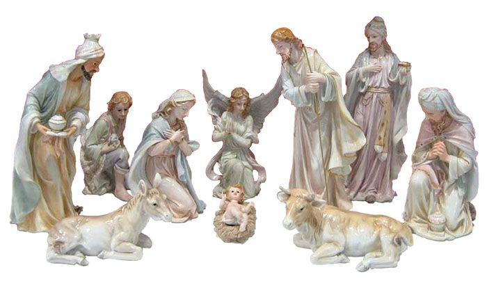 Presépio 11 peças Porcelana 60cm