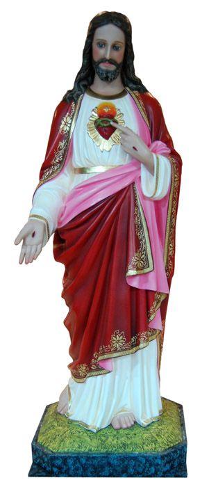Imagem Sagrado Coração de Jesus Gesso 100cm
