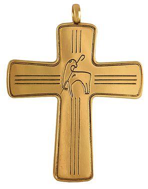 Cruz Peitoral Prata Dourada C10