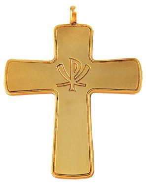 Cruz Peitoral Prata Dourada C11