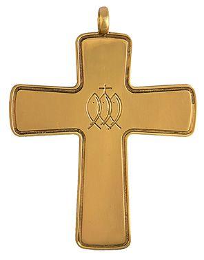 Cruz Peitoral Prata Dourada C9