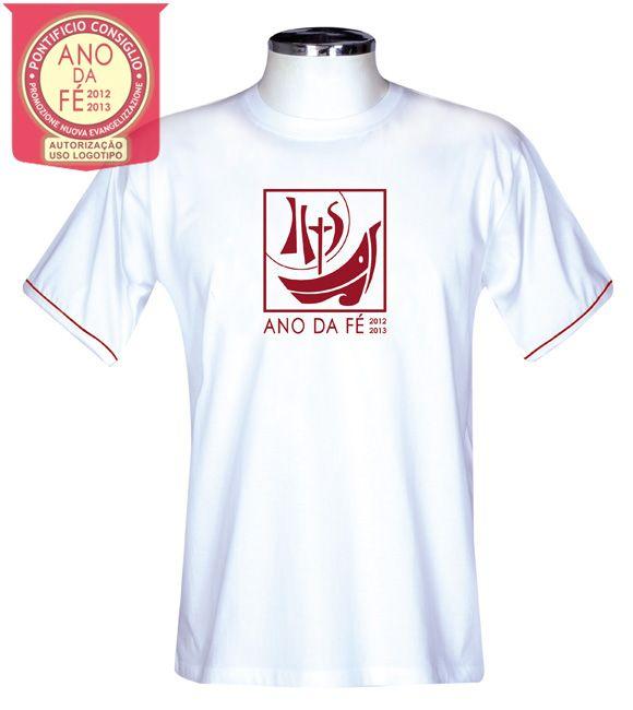 Camisa Ano da Fé S165 Branca/Adulto