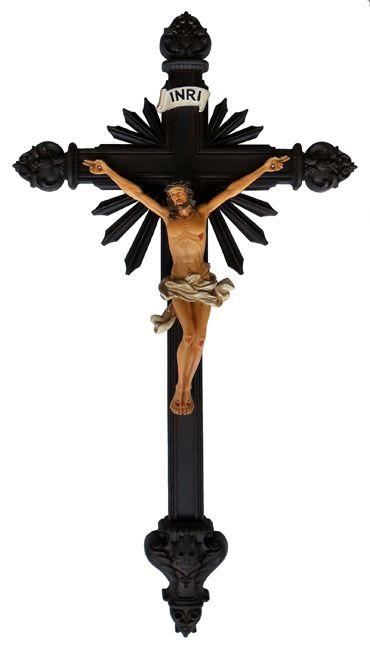 Crucifixo de Parede Resina 58,9cm