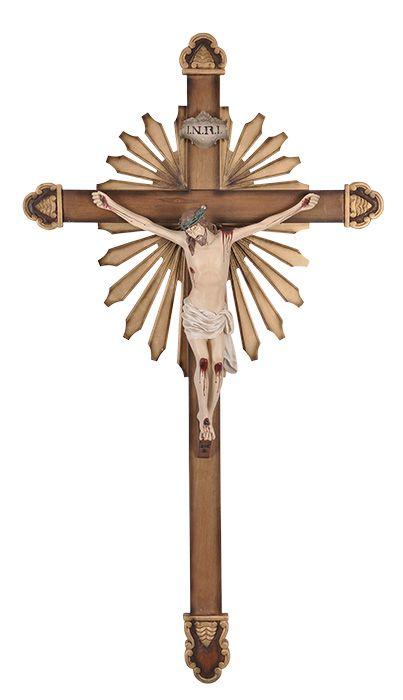Crucifixo de Parede Ornado Resina 138cm