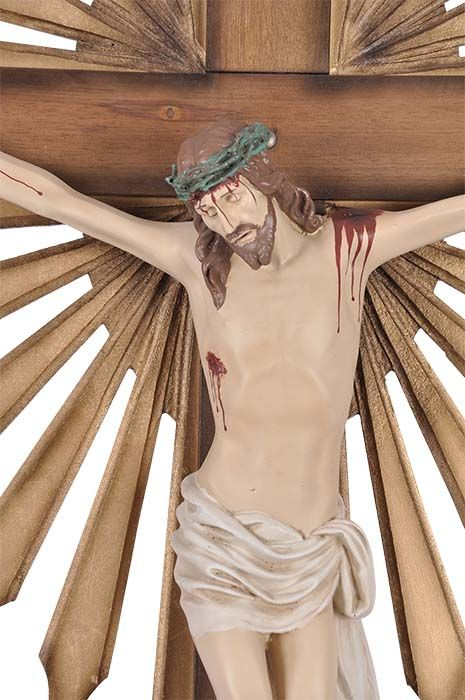 Crucifixo de Parede Ornado Resina 164cm