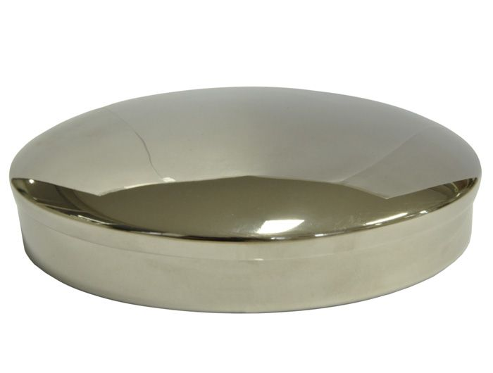 Caixa para Hóstia Lisa Cromada - 15,5 cm
