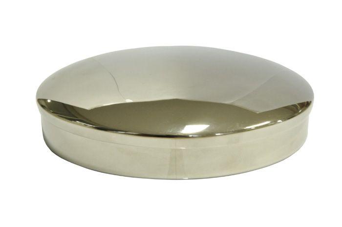 Caixa Hóstia Lisa Cromada - 17,5 cm