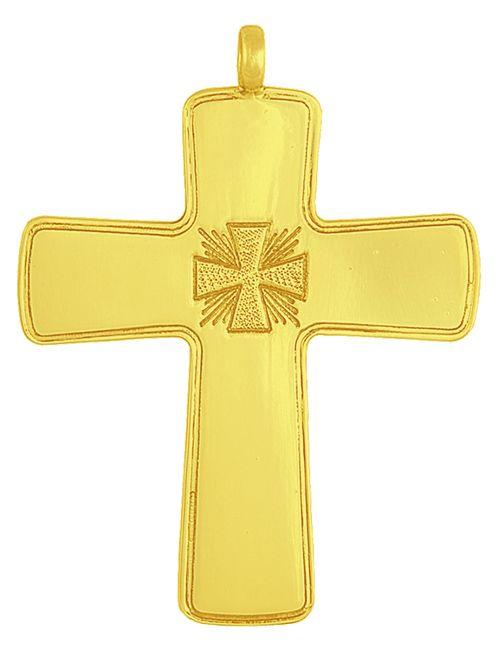 Cruz Peitoral Prata Dourada C1