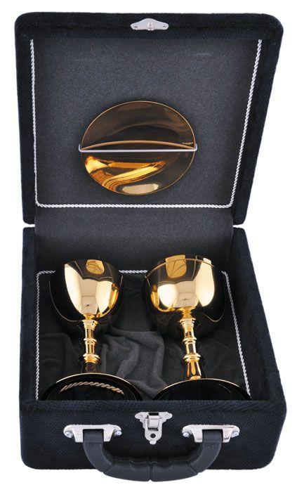 Estojo com Cálice e Âmbula Dourado Total 350
