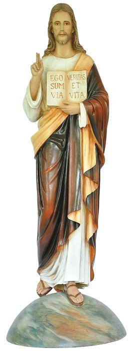 Imagem Jesus Divino Mestre Fibra 100cm 4219