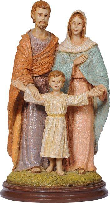 Imagem Sagrada Família Fibra 25cm 4065