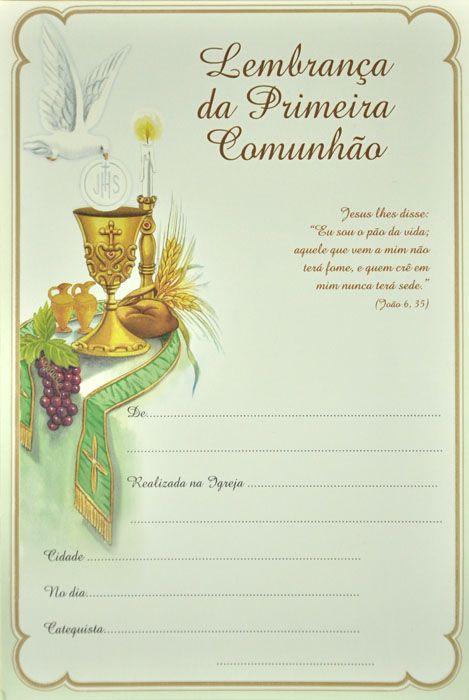 Lembrança da Primeira Eucaristia LB 046 - 10 un