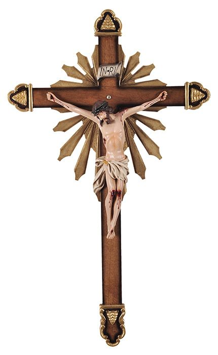 Crucifixo de Parede Ornado Resina 85cm