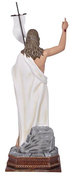 Imagem Cristo Ressuscitado com Base Durata 80cm
