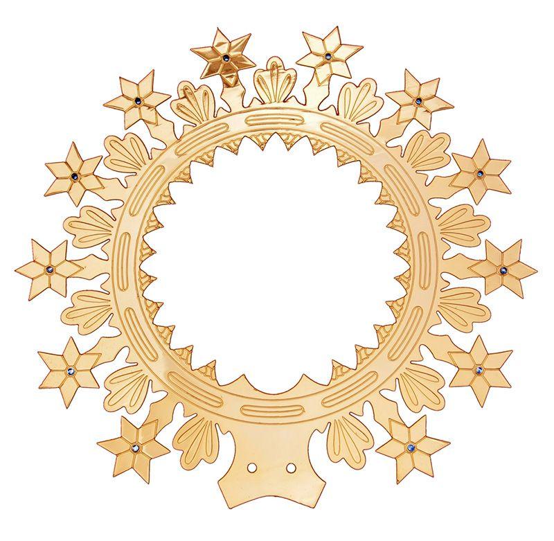 Auréola com Estrelas e Leds Brancos 27cm 8210