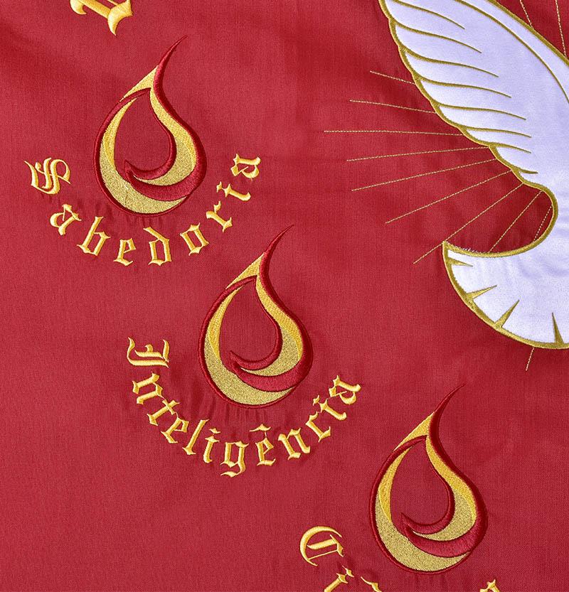 Bandeira do Divino Espírito Santo Bordada