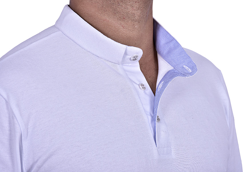 Camisa Clerical Estilo Polo Branca PL001