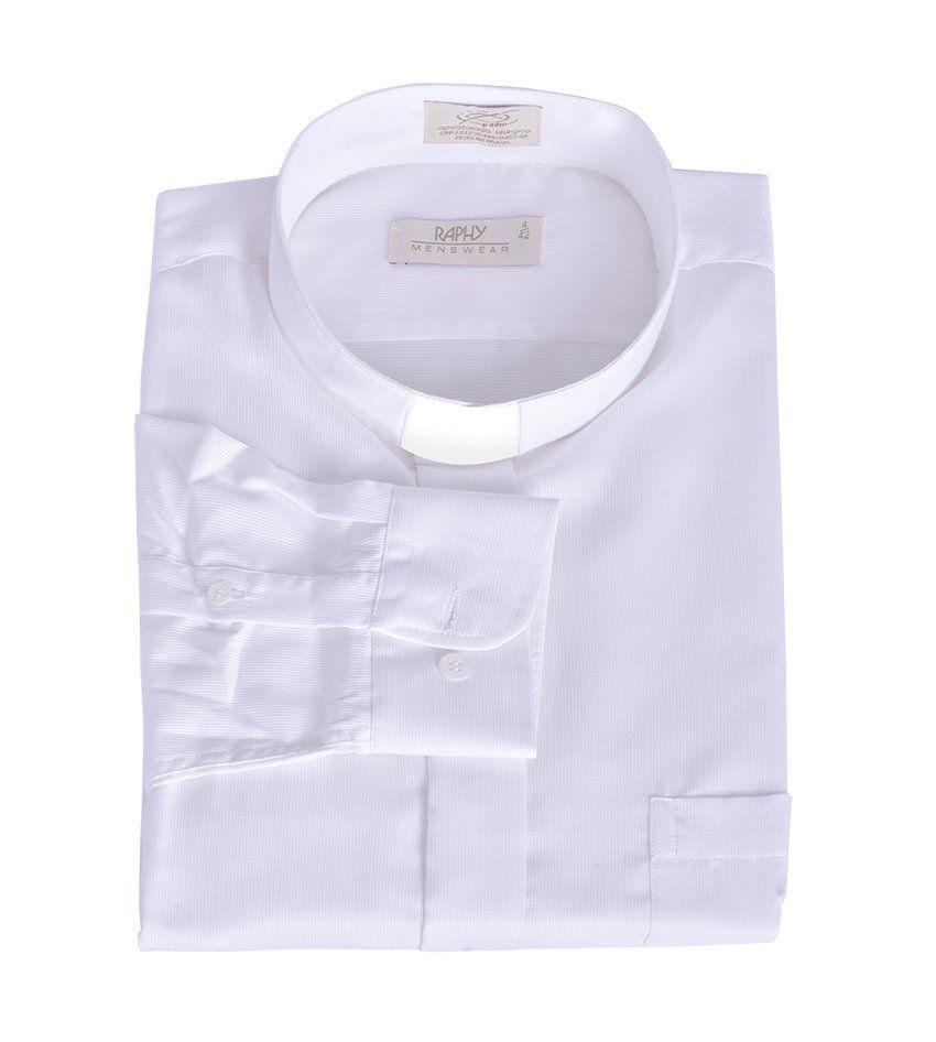 Camisa Clerical Manga Longa Casinha de Abelha